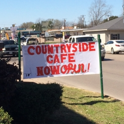 Countryside Cafe – Front Sign (3)